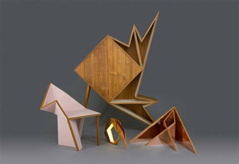 Origami Forms - a collection of geometric furniture and decorative objects