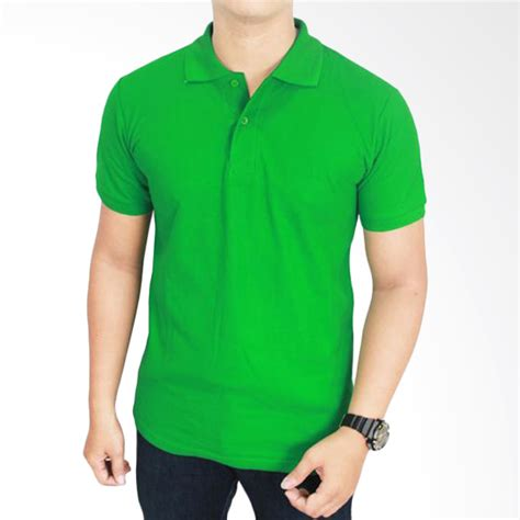 Kaos Hijau Pria jual gudang fashion kaos polos kerah pol 61 hijau fuji