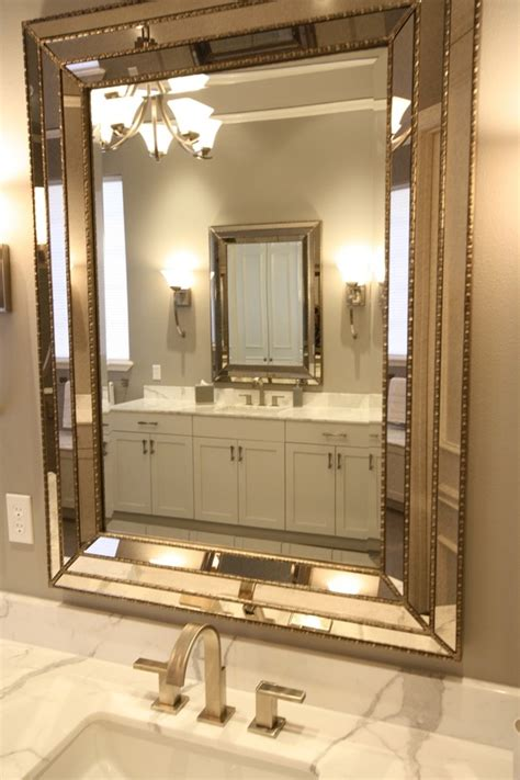 Innovative uttermost mirrors method dallas traditional bathroom decorators with 2cm thick