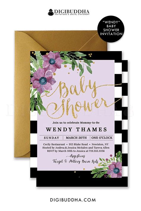 Pink Black And White Baby Shower Invitations by Purple Black And White Baby Shower Invitations Yourweek