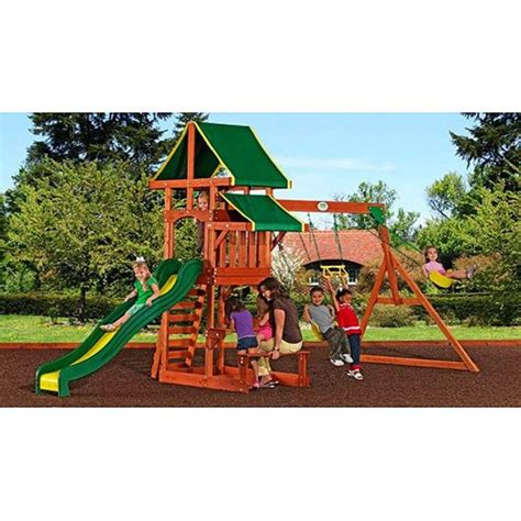 swing set reviews best rated wooden backyard swing sets for older kids on