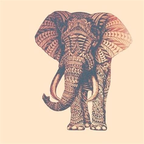 pattern elephant art tribal print elephant the cutest thing ever tribal