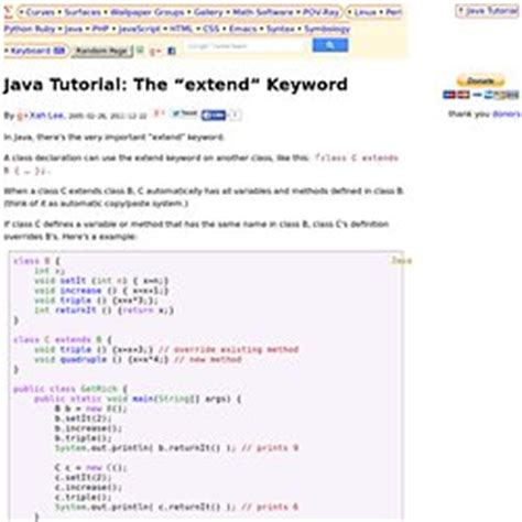 java tutorial super keyword language syntax keywords pearltrees