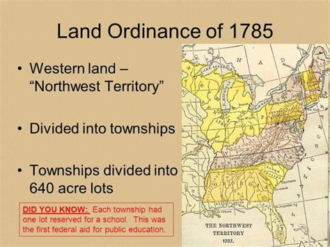 the 640 acre sections created in the northwest the history of education timeline timetoast timelines