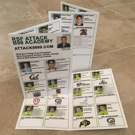 Soccer Team College Recruiting Brochure Template College Showcases Anatomy Of The Perfect Recruiting Flyer Soccernation