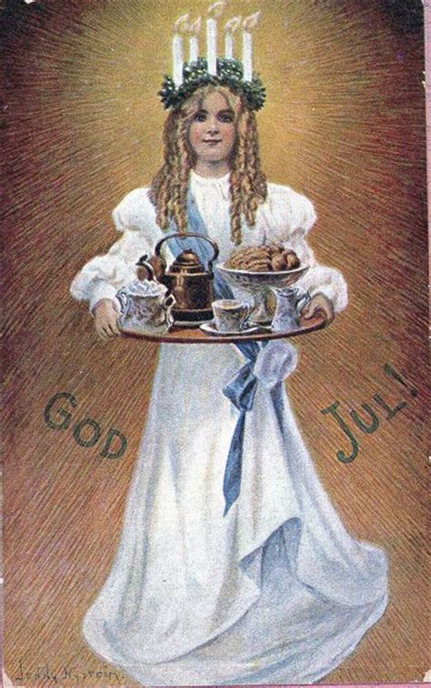 images  santa lucia sweden  pinterest december swedish christmas traditions
