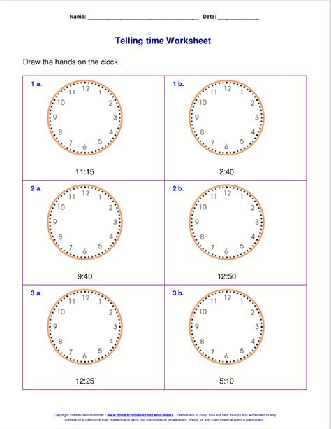 clock worksheets by the minute telling time worksheets for 2nd grade