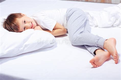 and boys in bed portrait of a boy in bed with pajama stock image image 50228475