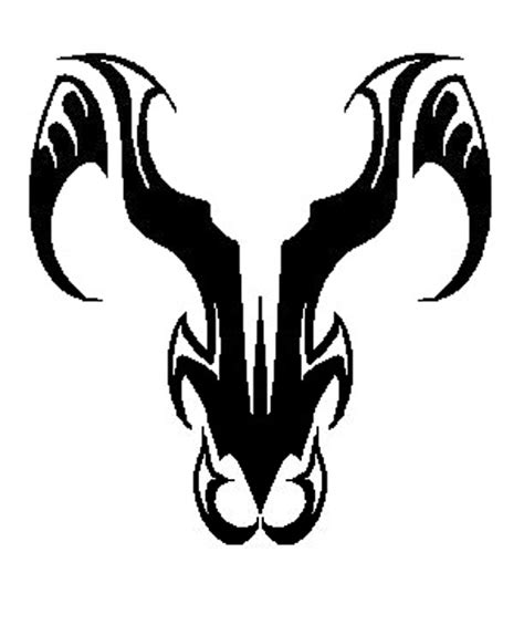 aries tribal tattoo of big aries designs symbol aries
