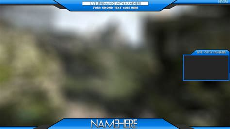 overlay templates for photoshop cool blue twitch overlay 11 6mb psd file sellfy com