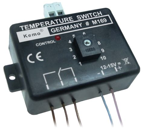 Switch Temperatur temperature switch thermostat 12v module kemo kits electronic components rabtron electronics