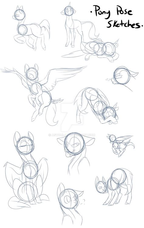 Sketches Poses by Pony Poses Sketch Study By Rhinestonearts On Deviantart