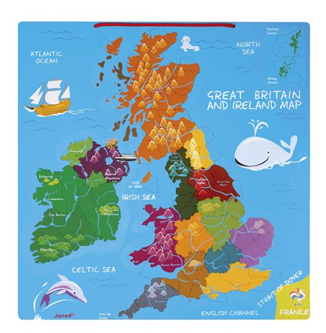 great britain ireland 97 janod magnetic great britain ireland map fun learning