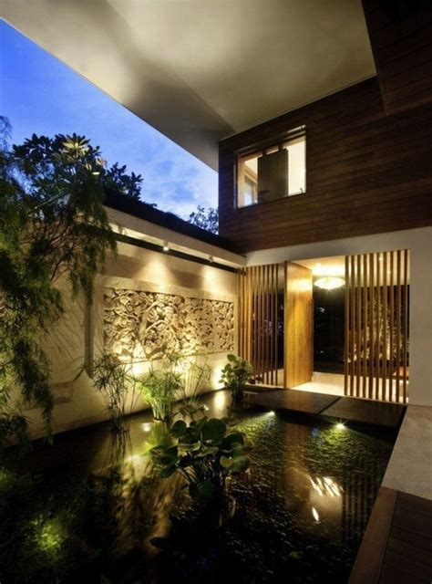 zen home design singapore casa con techos de c 233 sped