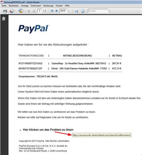 Rechnung Aus Schweiz Nach Deutschland Paypal Phishing Versuch Inkl Rechnung Im Dateianhang Mimikama