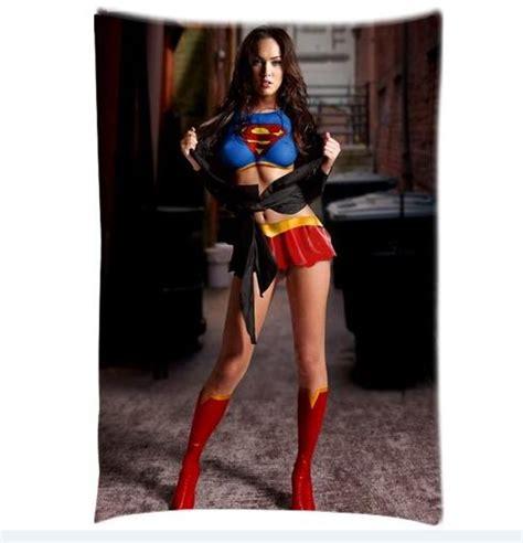 Kaos Fox Faster Best Quality megan fox superfox supergirl superman printed design
