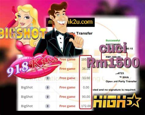 kiss bigshot slot  game bigwin tahniah boss cuci rm cepat cuba