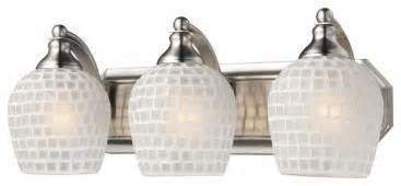 Vanity Lights Miami Elk White Mosaic Bathroom Vanity Light 570 3n Wht