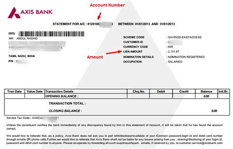 Axis Bank Statement Letter Format Axis Bank Statement Free Downloads