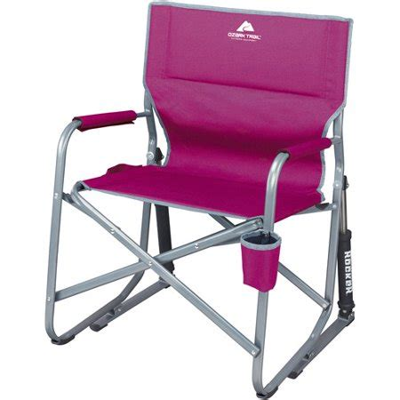 portable rocking chair folding lightweight glider cup holder outdoor camping ebay