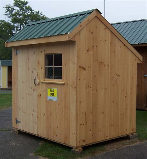 Saltbox Wood Shed by 6 X 8 One Door Salt Box Brimfield Shed