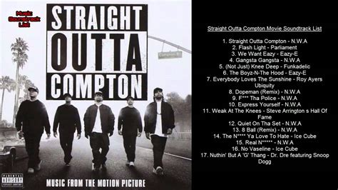 soundtrack film gie youtube straight outta compton movie soundtrack list youtube