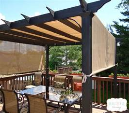 Do It Yourself Patio Cover Our New Pergola Shade At Last Beauteeful Living