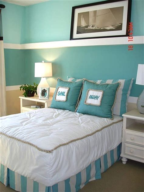 Aqua Themed Bedroom by Theme Bedroom