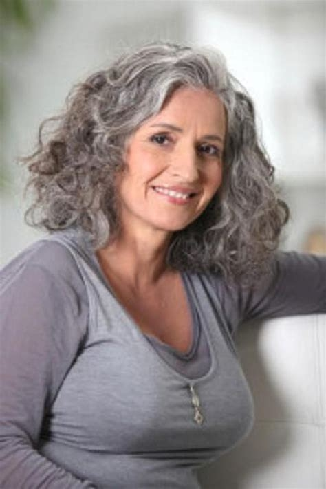 40 year old woman with short grey hair curly gray and silver hair sassy silver locks
