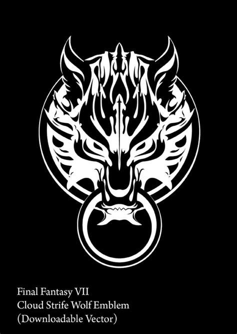 god eater fenrir symbol cloud strife wolf fenrir logo by karloi on deviantart