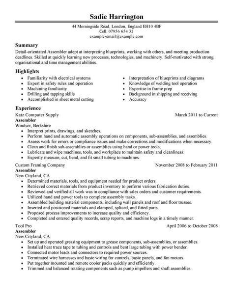 Production Resume by Production Resumes Resume Ideas