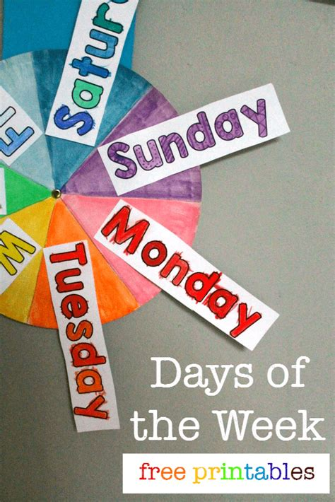 what is the day today of week free days of the week printable spinner nurturestore