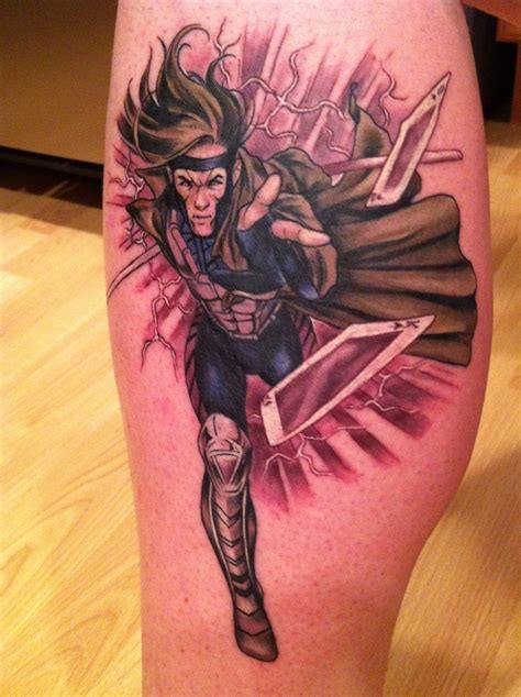 x tattoo ideas x men gambit tattoo by matt lukesh best tattoo ideas