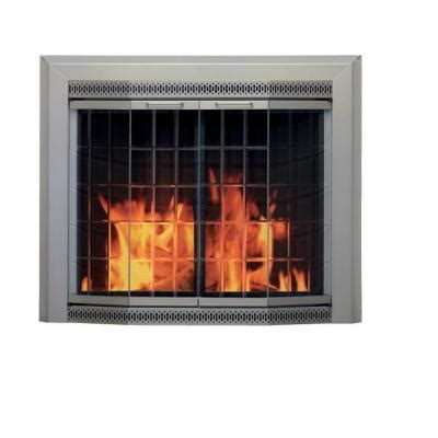 pleasant hearth galena bay medium glass fireplace doors