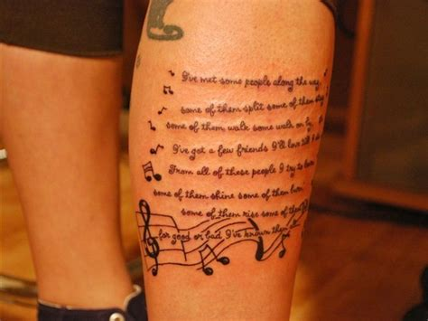 lyric tattoo lyrics ideas sleeve tattoos