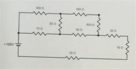 the current through the 20 ohm resistor does not change what is the current through the 100 ohm resistor chegg