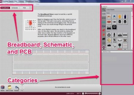 breadboard layout software fritzing free tool to design circuit on breadboard