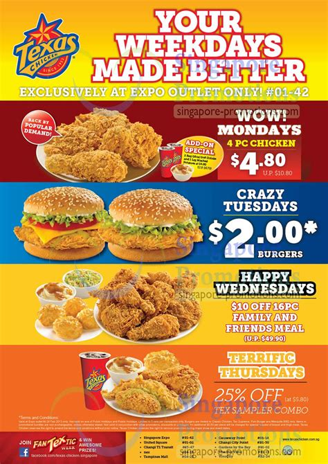 texas chicken special combo meal promotion  singapore