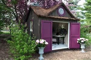 blue artichoke interiors decorated garden sheds magical