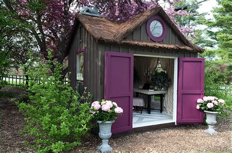 Decorated Sheds blue artichoke interiors decorated garden sheds magical outdoor spaces
