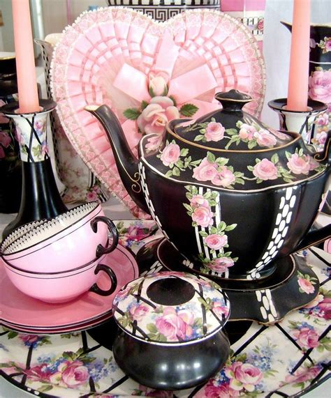 Kalung Xiiping Set 3 Xs 120 vintage high tea set pink and black fb for the home