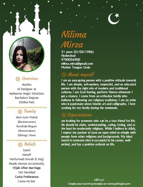 biodata format marriage how to write a muslim marriage biodata sles you can copy