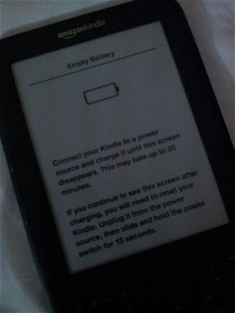resetting kindle battery kindle will not turn on kindle battery problem