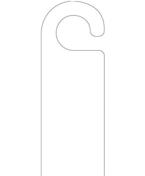 door hanger white door hanger