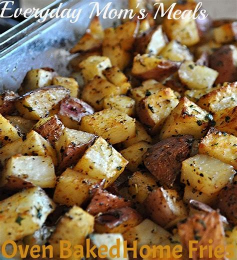 oven baked home fries morning noon or