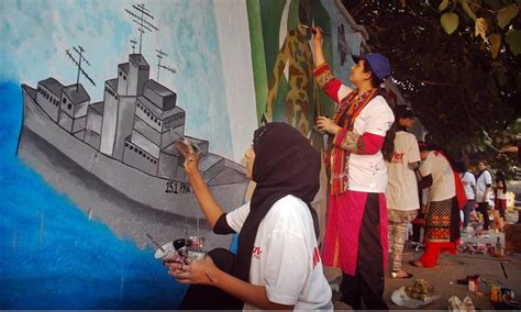 design art competition artists participate in street art competition in lahore
