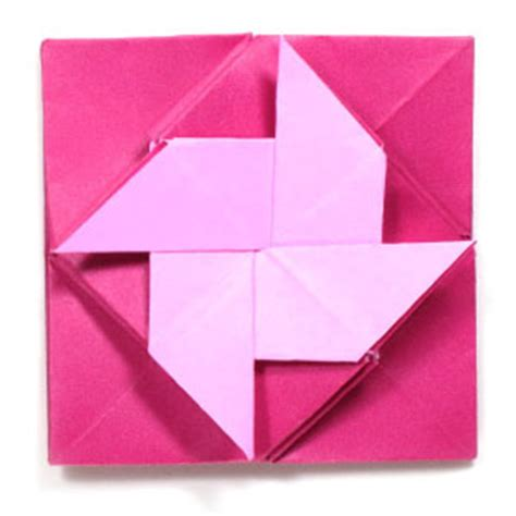 How To Make Origami Letters - how to make a pinwheel origami letter or menko page 1