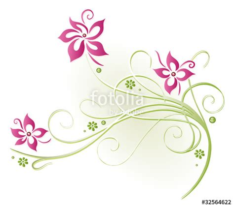 quot ranke flora blumen bl 252 ten filigran pink gr 252 n