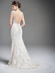 backless mermaid wedding dress with v necklinecherry