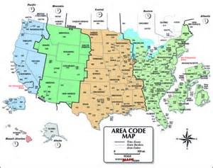 usa area code and time zone wall map maps